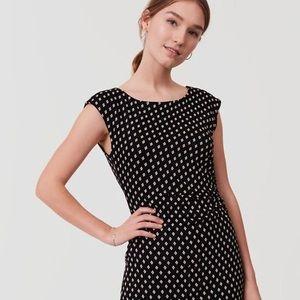 LOFT - Diamond Side Shirred Dress